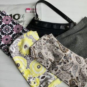 Thirty-one Black Bag with 4 Skirt Covers
